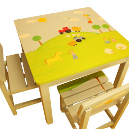Nursey Table and 2 chairs set