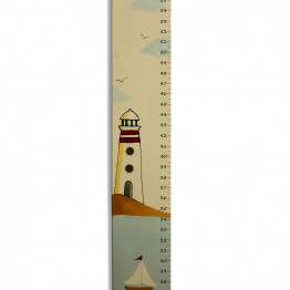 Growth Chart Personalized Sail Boat and a lighthouse