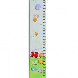 Growth Chart A personalized colorful girls and boys on a train ride