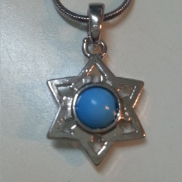 Unisex Star of David Necklace with Earth