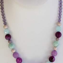 Real stones of purple necklace