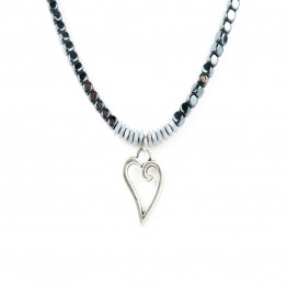 Silver Heart short necklace