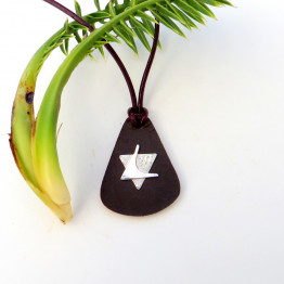 Sterling Silver Star of David necklace on Leather- 3 for men