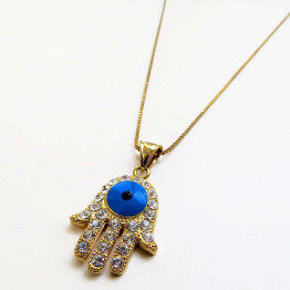 Gold filled chain & Gold Filled Hamsa pendant & necklace, Gift Necklace, Jewelry Necklace, Necklace Mother Gift, Unique Jewelry, Jewelry Gifts, Necklace Jewelry