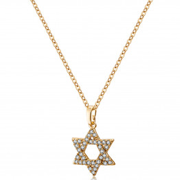 24K Gold Filled chain & Star of David cubic zirconia pendant necklace, Gift Necklace, Jewelry Necklace, Necklace Mother Gift, Unique Jewelry, Jewelry Gifts, Necklace Jewelry
