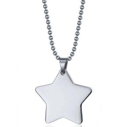 men's star pendant Silver stainless steel necklace, Gift Necklace, Jewelry Necklace, Necklace father Gift, Unique, Jewelry Gifts, Necklace Jewelry