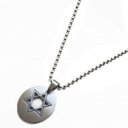 men's Star of David pendant Silver stainless steel necklace, Gift Necklace, Jewelry Necklace, Necklace father Gift, Unique, Jewelry Gifts, Necklace Jewelry