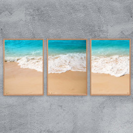 Wave and sand, beach, Printable Wall Art, Instant download, Ocean, Sea, painting