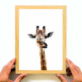 Giraffe tongue Painting, Printable Wall Art, Instant download, Large Poster