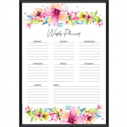 Floral Weekly Schedule, Memo Pad, Notepad, Printable, Instant download, list pad