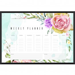 Floral Weekly Planner, Memo Pad, Weekly Schedule, Printable, Instant Download