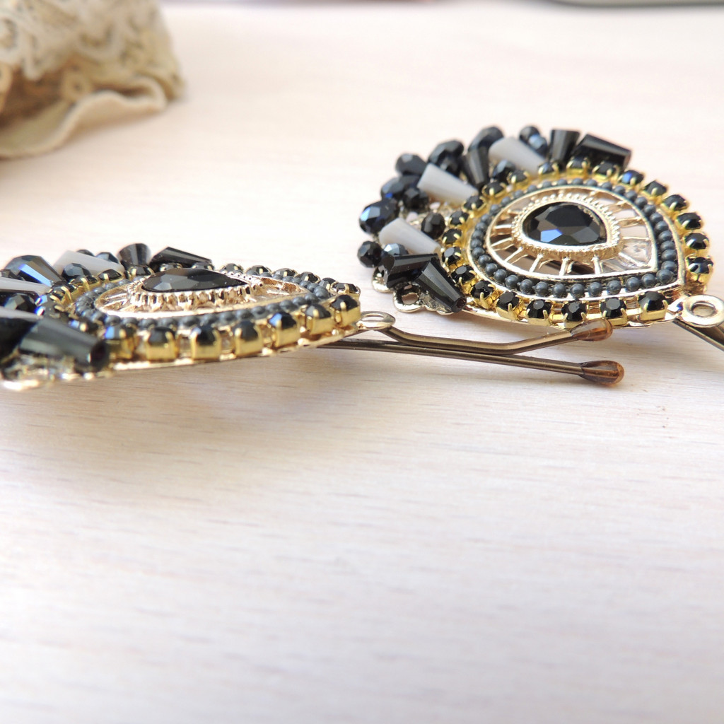 6ea829f6a U-Boutique Shops | Gold Vintage Black- Grey Antique Style Hair Clip, Bridal  hairpin, Jewelry, Bronze Hair Clips, Hair Pin, Pin with amazing Stones, ...
