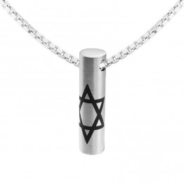 Stunning  Star of David S. Steel Pendant  Come's With a 60 cm Steel Box Chain. Free Gift box! (SA1069)