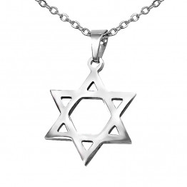 AHARONI S.Steel  Classic Star of David pendant! Come's  With S.Steel Chain 55 Cm And Gift Box! (GSS007)