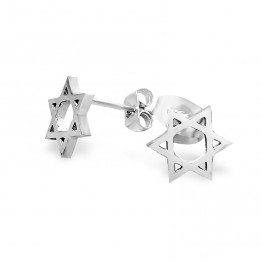 Stainless Steel Jewish stud earring Star of David Come's With Gift Box!(GSS008)