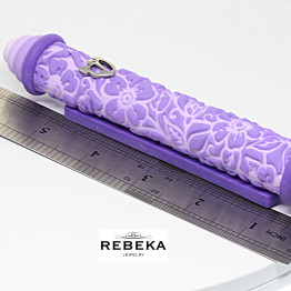 Mezuzah, Mezuzah Case, From Israel, New Home Gift, Jewish Wedding Mezuzah, Modern Mezuzah, Clay Door Mezuzah, Purple Mezuzah, Mezuzah Cover