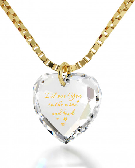 U Boutique Shops Quot I Love You To The Moon And Back Quot 14k
