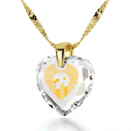 """I Love You To The Moon And Back"" 14k Gold Necklace Cubic Zirconia148"