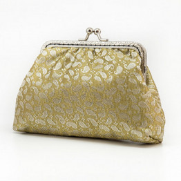 Golden Elegant Clutch Purse