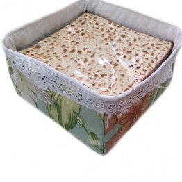 Fabric Basket for Matzah