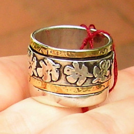 Fig silver gold ring Israeli ring, Kabbalah jewelry Judaica ring, Jewish ring, Made in Israel