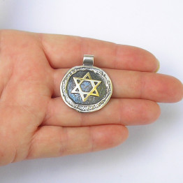 Star of David  silver Pendant