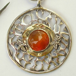 Carnelian & silver necklace