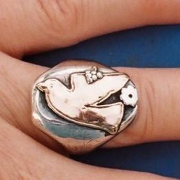 Dove Ring Judaica jewelry Jewish jewelry Israeli ring Made in Israel ring