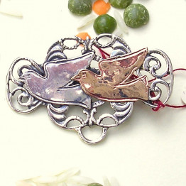 Doves Brooch Kabbalah jewelry Israeli jewelry Judaica jewelry Jewish jewelry Made in Israel jewelry