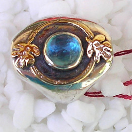 Isaac's Well Ring Israeli ring Judaica ring Kabbalah jewelry Jewish jewelry Made in Israel ring