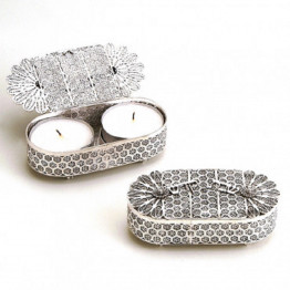 Authentic silver filigree Traveling Candlestick/ Candle Holders