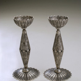 Silver Candlesticks/ Candle Holders