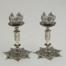 Stunning Silver Candlesticks, Candle Holders