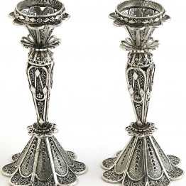 Sterling Silver Candlesticks/ Candle Holders for Candles or Oil Cups
