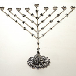 Sterling Silver Menorah, Gift for Bar Mitzvah,  Gift for hanukkah