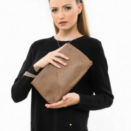 Brown Leather Evening Bag