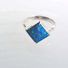 Ring Handmade Sterling Silver With Opal Stone
