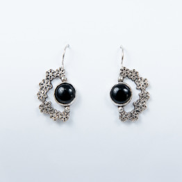 Earring Handmade Sterling Silver With onyx Stone