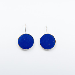 Earring Handmade Sterling Silver With Blue lapis Stone