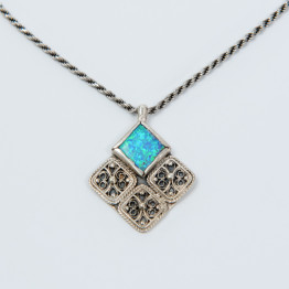 Rhombus Necklace / Sterling Silver 925