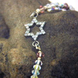 Star of David Zircon Delicate womens bracelet