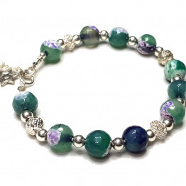 Silver and Agate bracelet