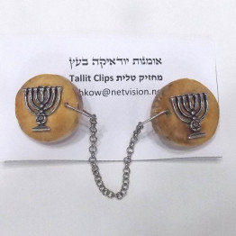 Olive wood Tallit Clips