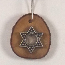 Star of David Necklace-Israeli Olive Wood Judaica Jewelry for men/women MJ38
