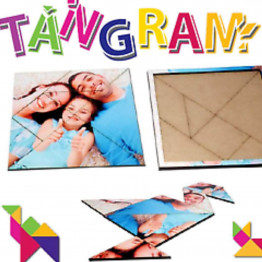Tangram Wood IQ Game Jigsaw Intelligent Brain Teaser Puzzle Customs Personalised