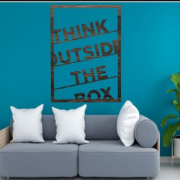 Think outside the box Wall Art Signs decore Wall hanging Housewarming gift word